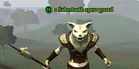 A Sabertooth spear guard