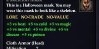 A skeleton mask