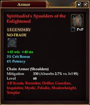 Spiritualist's Spaulders of the Enlightened
