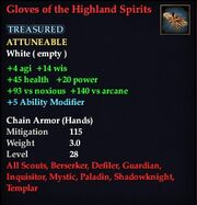 Gloves of the Highland Spirits