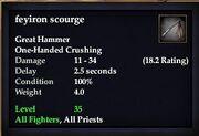 Feyiron scourge