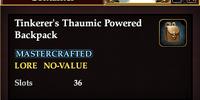Tinkerer's Thaumic Powered Backpack
