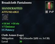 Broadcloth Pantaloons