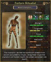 Forlorn Ritualist arena stats