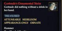 Gertrude's Ornamental Stein