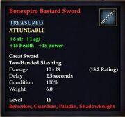 Bonespire Bastard Sword