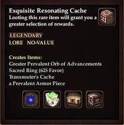 Exquisite Resonating Cache