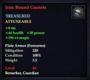 Iron Bound Gussets