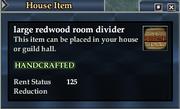 Large redwood room divider