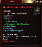 Occultist's Shoes of the Citadel