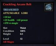 Crackling Arcane Belt