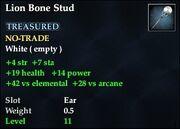 Lion Bone Stud