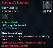 Marauder's Legplates