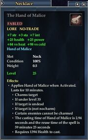 The Hand of Malice