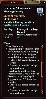 Luminous Adornment of Blasting (Greater)