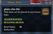 Plain elm tile