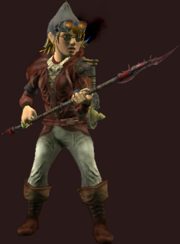 Deadly Bloodiron Spear (Equipped)