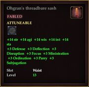 Ohgran's threadbare sash