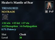 Healer's Mantle of Fear