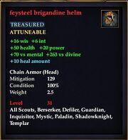 Feysteel brigandine helm