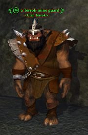 A Terrok mine guard