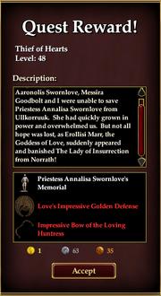 Quest Reward - Thief of Hearts