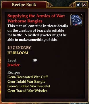 Suppling the armies of war warborne bangles