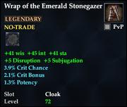 Wrap of the Emerald Stonegazer