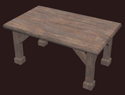 A pristine generic elm table (Visible)