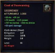 Crest of Forewarning