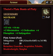 Theist's Plate Boots of Piety
