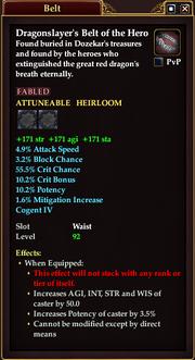 Dragonslayer's Belt of the Hero