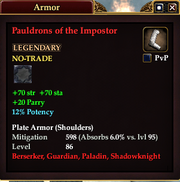 Pauldrons of the Impostor