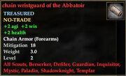 Chain wristguard of the Abbatoir