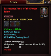 Sacrosanct Pants of the Forest Scion