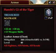 Hanshi's Gi of the Tiger