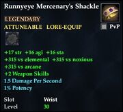 Runnyeye Mercenary's Shackle