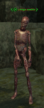 A feign zombie