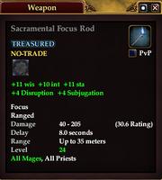 Sacramental Focus Rod