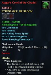 Augur's Cowl of the Citadel