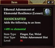 Ethereal Adornment of Elemental Resilience (Lesser)