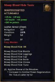 Mossy Blood Hide Tunic