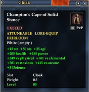 Champion's Cape of Solid Stance