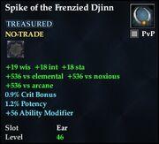 Spike of the Frenzied Djinn
