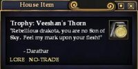 Trophy: Veeshan's Thorn