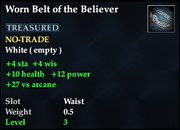Worn Belt of the Believer