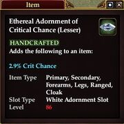 Ethereal Adornment of Critical Chance (Lesser)