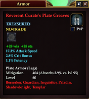 Reverent Curate's Plate Greaves