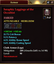 Seraphic Leggings of the Occultist