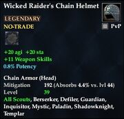 Wicked Raider's Chain Helmet